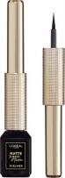 L'Oréal - MATTE SIGNATURE EYELINER - Eyeliner w płynie - 01 - BLACK - 01 - BLACK