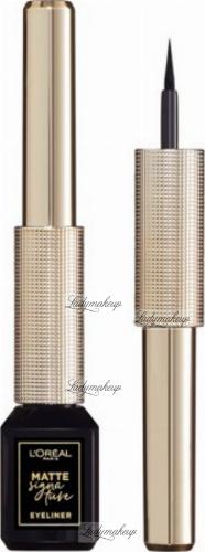 L'Oréal - MATTE SIGNATURE EYELINER - Eyeliner w płynie