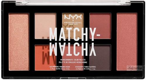 NYX Professional Makeup - MATCHY-MATCHY - MONOCHROMATIC COLOR PALETTE - Paleta do makijażu oczu i twarzy - 03 CAMEL