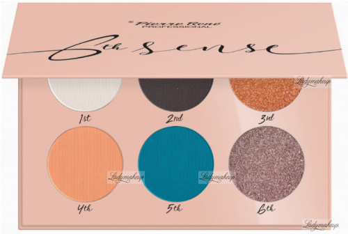 Pierre René - 6TH SENSE - EYESHADOW PALETTE - Paleta cieni do powiek - No. 07 - Salmon Tangle