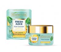 Bielenda - Fresh Juice - Brightening Cream Booster with Bioactive Citrus Water - Rozświetlający krem booster z bioaktywną wodą cytrusową - 50 ml