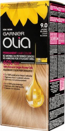 GARNIER- OLIA PERMANENT HAIR COLOR - 9.0 LIGHT BLONDE - Farba do włosów - Trwała koloryzacja - Jasny blond