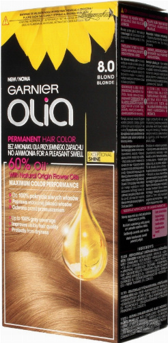 GARNIER- OLIA PERMANENT HAIR COLOR - 8.0 BLONDE - Hair dye - Permanent hair color - Blonde