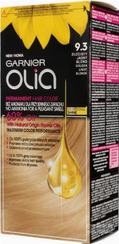 GARNIER- OLIA PERMANENT HAIR COLOR - 9.3 GOLDEN LIGHT BLONDE - Farba do włosów - Trwała koloryzacja - Złocisty jasny blond