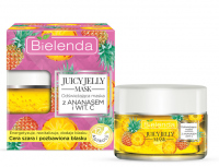 Bielenda - Juicy Jelly Mask - Refreshing Mask with Pinapple and Vitamin C - Odświeżająca maska z ananasem i witaminą C