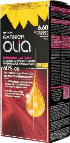 GARNIER- OLIA PERMANENT HAIR COLOR - 6.60 INTENSE RED - Farba do włosów - Trwała koloryzacja - Intensywna czerwień