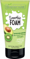 Bielenda - SMOOTHIE FOAM - Mattifying Creamy Foam for Face Wash - Creamy face wash foam - Matting - Prebiotic + Avocado + Kiwi