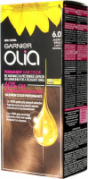 GARNIER- OLIA PERMANENT HAIR COLOR - 6.0 LIGHT BROWN - Hair dye - Permanent hair color - Light brown