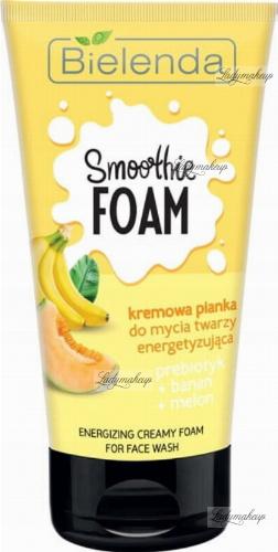 Bielenda - SMOOTHIE FOAM - Energizing Creamy Foam for Face Wash - Creamy face wash foam - Energizing - Prebiotic + Banana + Melon