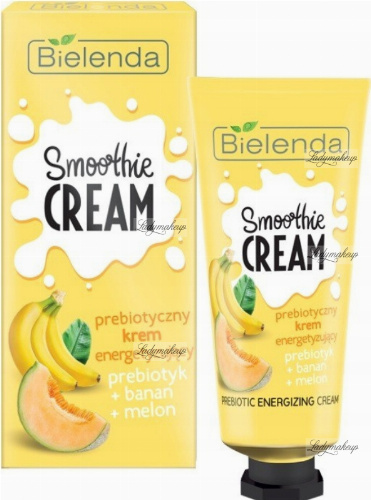 Bielenda - SMOOTHIE CREAM - Prebiotic Energizing Cream - Energizing - Prebiotic + Banana + Melon - 50 ml