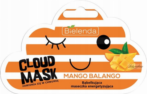 Bielenda - Cloud Mask - Mango Balango - Bąbelkująca maseczka energetyzująca - 6 g