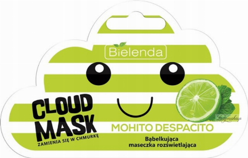 Bielenda - Cloud Mask - Mohito Despacito - Bąbelkująca maseczka rozświetlająca - 6 g
