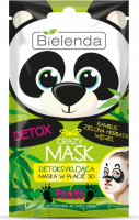 Bielenda - Crazy Mask - Detoxifying 3D Sheet Mask - Detoxifying 3D mask - Panda