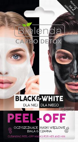 Bielenda - Carbo Detox - Black & White - Cleansing Peel-Off Mask for Her and Him - Oczyszczające maski węglowe - Biała & Czarna - Dla Niej i dla Niego - 2x6g