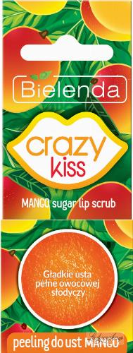 Bielenda - Crazy Kiss - Mango Sugar Lip Scrub - Cukrowy peeling do ust - Mango