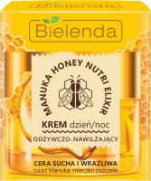 Bielenda - Manuka Honey Nutri Elixir - Nourishing & Moisturizing Cream - Day / Night - 50 ml