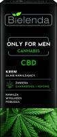 Bielenda - Only For Men - Cannabis - CBD - Intensive Moisturising Cream - Krem silnie nawilżający - 50 ml