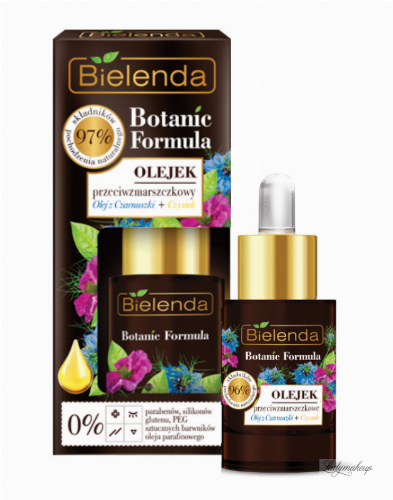 Bielenda - Botanic Formula - Anti-Wrinkle Face Oil - Black Cumin Oil + Cistus - Anti-wrinkle oil - 15 ml