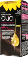 GARNIER- OLIA PERMANENT HAIR COLOR - 4.15 ICED CHOCOLATE - Hair dye - Permanent hair color - Frozen chocolate