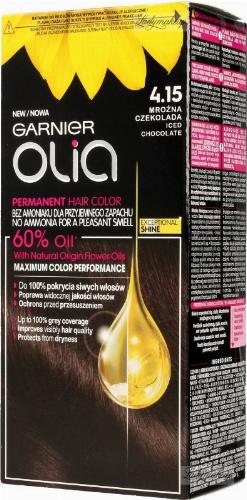 GARNIER- OLIA PERMANENT HAIR COLOR - 4.15 ICED CHOCOLATE - Farba do włosów - Trwała koloryzacja - Mroźna czekolada