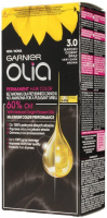 GARNIER- OLIA PERMANENT HAIR COLOR - 3.0 VERY DARK BROWN - Hair dye - Permanent hair color - Very dark brown