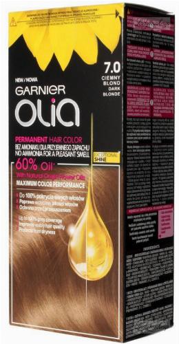 GARNIER- OLIA PERMANENT HAIR COLOR - 7.0 DARK BLONDE - Farba do włosów - Trwała koloryzacja - Ciemny blond