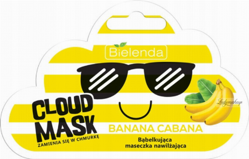 Bielenda - Cloud Mask - Banana Cabana - Bubble Moisturizing Mask - 6 g