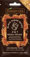Bielenda - Black Sugar Detox - Detoxifing & Cleansing - 2in1 Mask + Scrub - 2w1 Detoksykujaco-oczyszczajaca maska + peeling