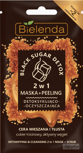 Bielenda - Black Sugar Detox - Detoxifying & Cleansing - 2 in 1 Mask + Scrub - 2in1 Detoxifying and cleansing mask + peeling