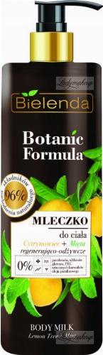 Bielenda - Botanic Formula - Body Milk - Lemon Tree + Mint - Regenerating and nourishing body milk - 400 ml