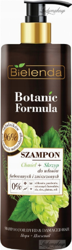 Bielenda - Botanic Formula - Shampoo Hops + Horsetail - Shampoo for colored and damaged hair - 400 ml