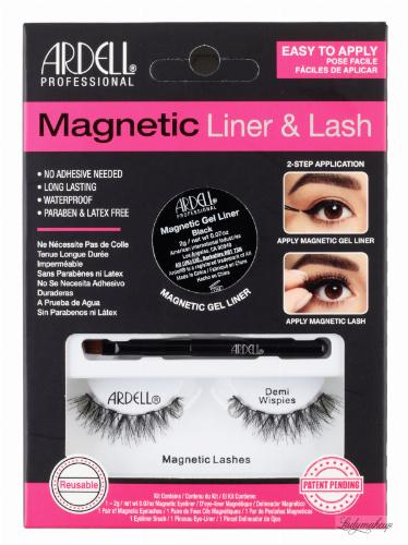 ARDELL - MAGNETIC LINER & LASH - Zestaw sztucznych rzęs z magnetycznym żelowym linerem - Demi Wispies