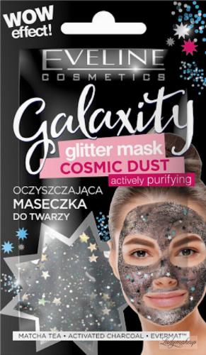 Eveline Cosmetics - GALAXITY - Glitter Mask - Cosmic Dust - Oczyszczająca maseczka do twarzy - 10 ml