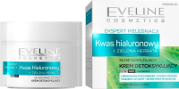 Eveline Cosmetics - CARE EXPERT - Strongly moisturizing detox cream - Hyaluronic acid + Green tea - Day / Night - 50 ml