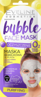 EVELINE- Bubble - Sheet face mask - Purifying - Bubble mask in a sheet with activated carbon - Cleansing