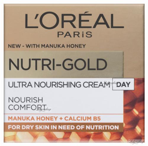 L'Oréal - NUTRI-GOLD - Utra Nourishing Day Cream - Krem do twarzy na dzień z miodem manuka - Skóra sucha - 50 ml