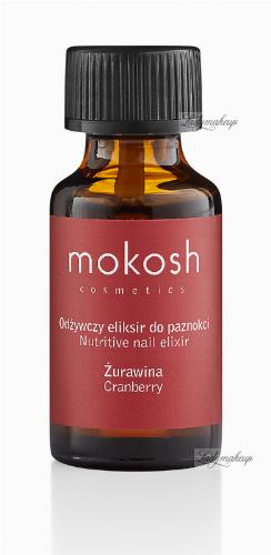 MOKOSH - NUTRITIVE NAIL ELIXIR - CRANBERRY - Odżywczy eliksir do paznokci - Żurawina - 10 ml