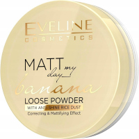 EVELINE - Matt My Day - Banana Loose Powder - Loose matting powder with the scent of banana