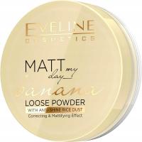 EVELINE - Matt My Day - Banana Loose Powder - Loose matting powder with the scent of banana