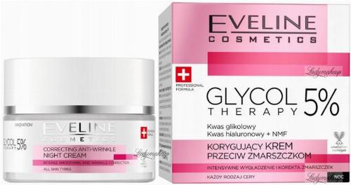 EVELINE - GLYCOL THERAPY 5% - Correcting Anti-wrinkle Cream - Korygujący krem przeciw zmarszczkom na Noc - 50 ml