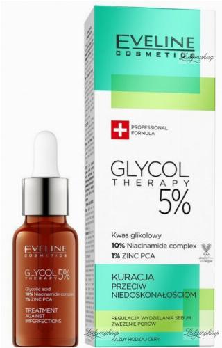 EVELINE - GLYCOL THERAPY 5% - Treatment Against Imperfections - Kuracja przeciw niedoskonałościom - 18 ml