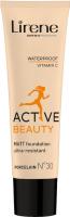 Lirene - Active Beauty - Matt Foundation Ultra-Resistant - Długotrwały podkład dla aktywnych - 30 ml