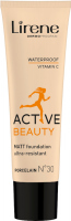 Lirene - Active Beauty - Matt Foundation Ultra-Resistant - Long-lasting foundation for the active - 30 ml