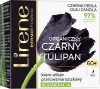 Lirene - ORGANICZNY CZARNY TULIPAN - Krem-eliksir przeciwzmarszczkowy - Regeneracja - 60+ Noc - 50 ml