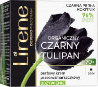 Lirene - ORGANICZNY CZARNY TULIPAN - Perłowy krem przeciwzmarszczkowy - Odżywienie 70+ Dzień - 50 ml