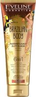 EVELINE - BRAZILIAN BODY - Illuminating golden body and face elixir 6in1 - 100 ml