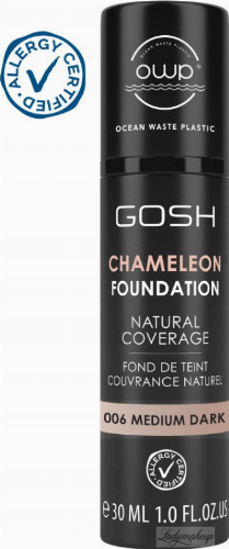 GOSH - CAMELEON FOUNDATION - Podkład adaptujący się do skóry - 30 ml