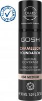 GOSH - CAMELEON FOUNDATION - Podkład adaptujący się do skóry - 30 ml - 004 MEDIUM - 004 MEDIUM