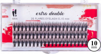 Ibra - EXTRA DOUBLE - 20 FLARE EYELASH KNOT-FREE - Tufts of artificial eyelashes