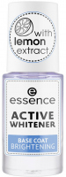 Essence - ACTIVE WHITENER BASE COAT - Nail conditioner / whitening base with lemon extract - 8 ml